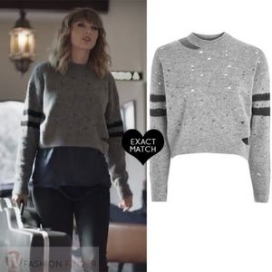 Topshop Taylor Swift Distressed Sweater 6